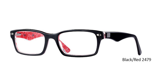 Black/Red RayBan RB5206 - All Colors Eyeglasses