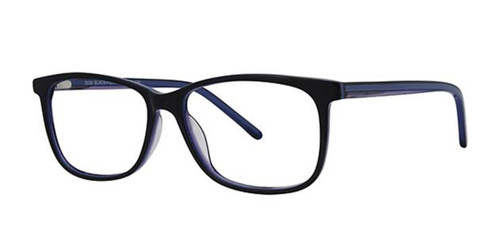 Black/Purple Elan 3038 Eyeglasses.