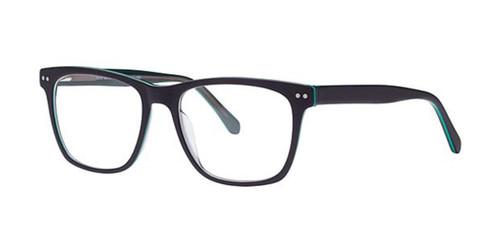 Black/Green Elan 3042 Eyeglasses.