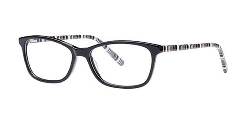 Black/Beige Elan 3043 Eyeglasses.