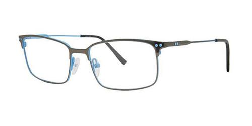 Black/Blue Elan 3428 Eyeglasses.