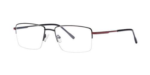 Black/Red Elan 3722 Eyeglasses.