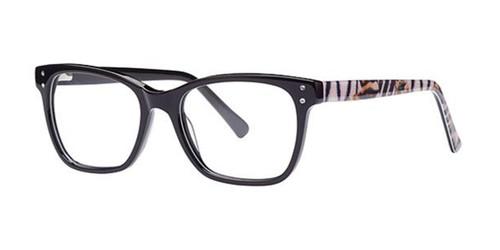 Black Elan 3750 Eyeglasses.