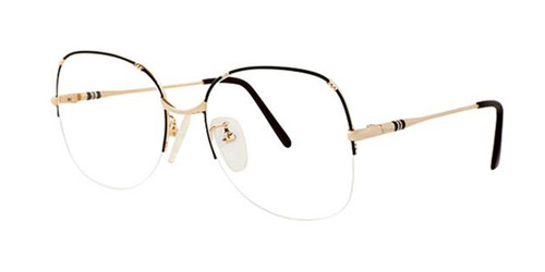 Black/Gold Elan 42 Eyeglasses.
