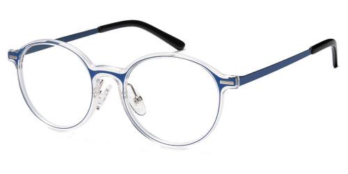 Blue Crystal Capri Menizzi M4095 Eyeglasses.