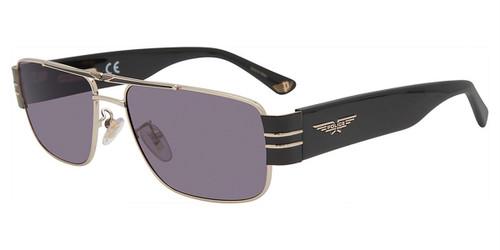Shiny Gold (0301) Police SPLA55 Sunglasses.