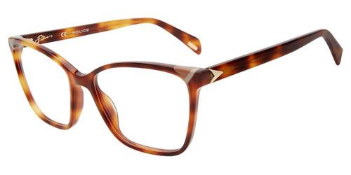 Brown Tortoise (0752) Police VPLD89V Eyeglasses.