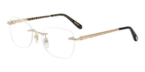 Gold Chopard VCHD78S Eyeglasses