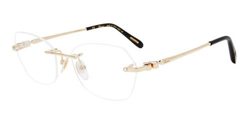 Gold Chopard VCHD80S Eyeglasses