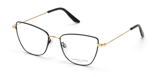 Black William Morris Charles Stone NY CSNY30084 Eyeglasses