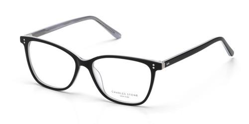 Black William Morris Charles Stone NY CSNY30083 Eyeglasses