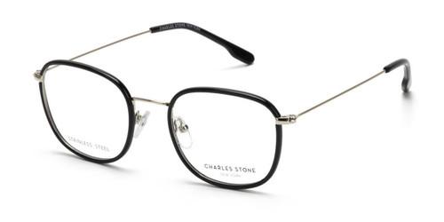 Black William Morris Charles Stone NY CSNY30076 Eyeglasses - Teenager