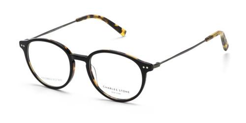Black Tortoise/Gun William Morris Charles Stone NY CSNY30079 Eyeglasses