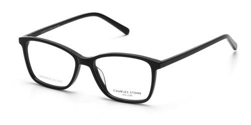 Black William Morris Charles Stone NY CSNY30078 Eyeglasses - Teenager