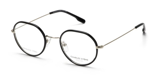 Black William Morris Charles Stone NY CSNY30077 Eyeglasses - Teenager