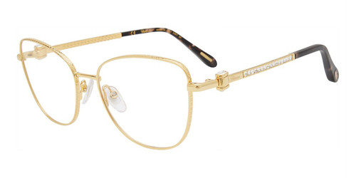 Gold Chopard VCHF17S Eyeglasses