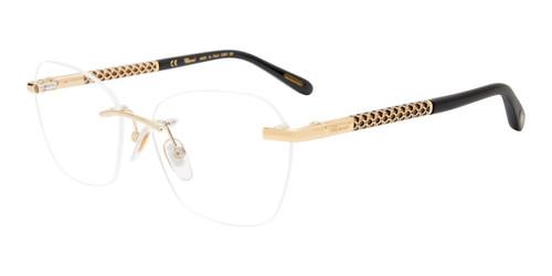 Gold Chopard VCHF47 Eyeglasses