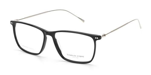 Black/Silver William Morris Charles Stone NY CSNY30068 Eyeglasses