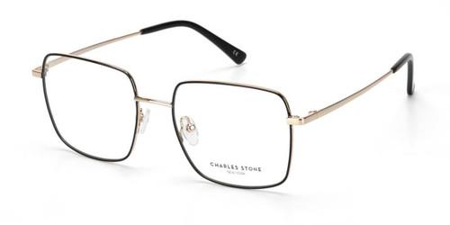 Black/Gold William Morris Charles Stone NY CSNY30067 Eyeglasses
