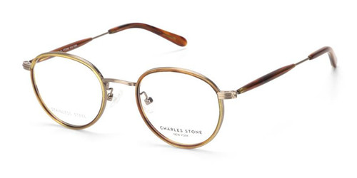 Amber/Bronze William Morris Charles Stone NY CSNY30065 Eyeglasses