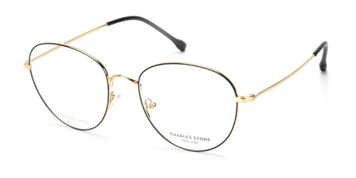 Black/Gold William Morris Charles Stone NY CSNY30064 Eyeglasses