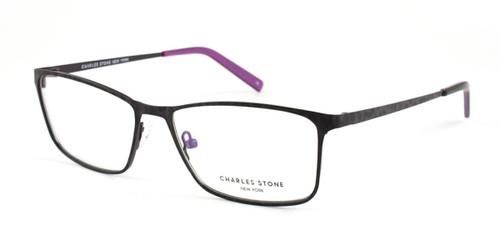 Purple/Black William Morris Charles Stone NY CSNY81 Eyeglasses