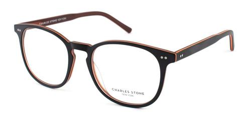 Brown/Orange William Morris Charles Stone NY CSNY552 Eyeglasses
