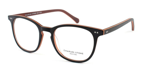 Brown/Orange William Morris Charles Stone NY CSNY550 Eyeglasses - Teenager