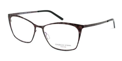 Taupe Leopard William Morris Charles Stone NY CSNY402 Eyeglasses