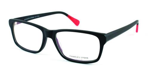 Matt Black/Red William Morris Charles Stone NY CSNY318 Eyeglasses