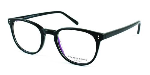 Black William Morris Charles Stone NY CSNY315 Eyeglasses - Teenager