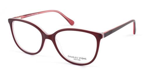 Burgundy William Morris Charles Stone NY CSNY304 Eyeglasses