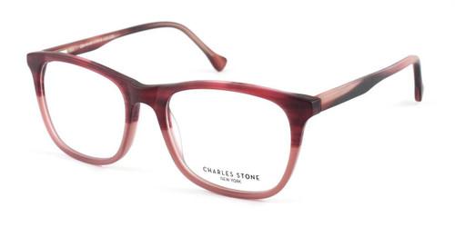 Burgundy William Morris Charles Stone NY CSNY303 Eyeglasses