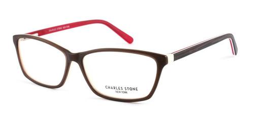 Brown William Morris Charles Stone NY CSNY301 Eyeglasses