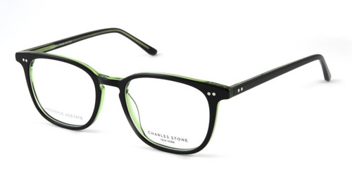 Black William Morris Charles Stone NY CSNY30055 Eyeglasses - Teenager