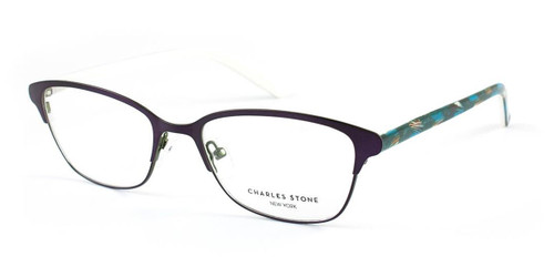 Plum/Cream William Morris Charles Stone NY CSNY300 Eyeglasses