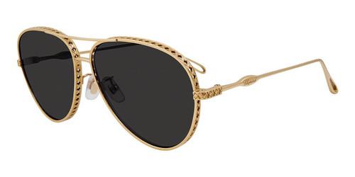 Gold Chopard SCHC86M Sunglasses - Gold