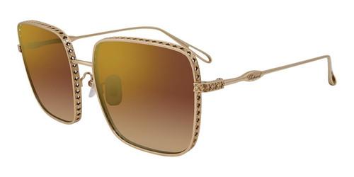 Gold Chopard SCHC85M Sunglasses - Gold