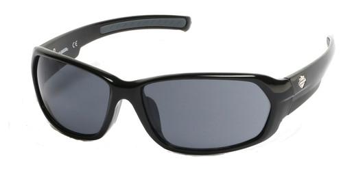 Shiny Black/Smoke (01A) HARLEY-DAVIDSON HD0913X Sunglasses.