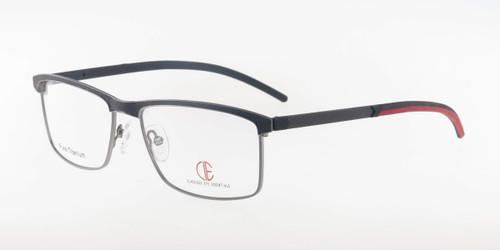 Gun/Red CIE SEC300T Eyeglasses