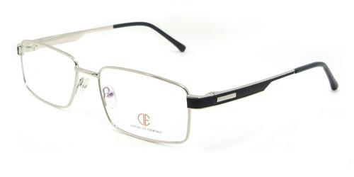 Silver/Black CIE SEC123 Eyeglasses .