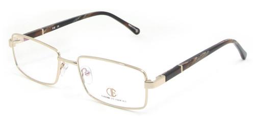 Gold/Brown CIE SEC120 Eyeglasses.