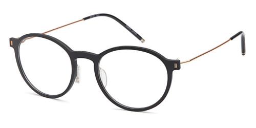 Black/Gold Capri Artistik Eyewear ART 321 Eyeglasses - Teenager