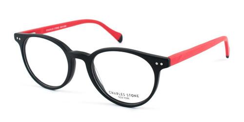 Black (C3) William Morris Charles Stone NY CSNY306 Eyeglasses - Teenager