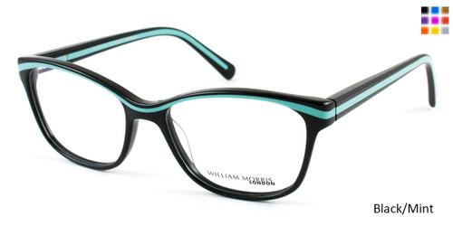 Black/Mint William Morris London WM3510 Eyeglasses