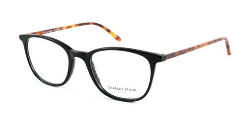 Black/Tortoise William Morris Charles Stone NY CSNY 30001 Eyeglasses - Teenager