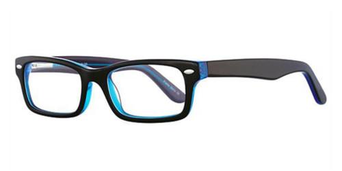 Black/Blue K12 4084 Eyeglasses