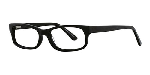 Matte Black Elan 3003 Eyeglasses.