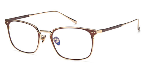 Brown/Gold Capri AGO 1001 Eyeglasses.