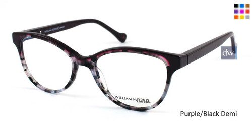 Purple/Black Demi William Morris London WM50024 Eyeglasses